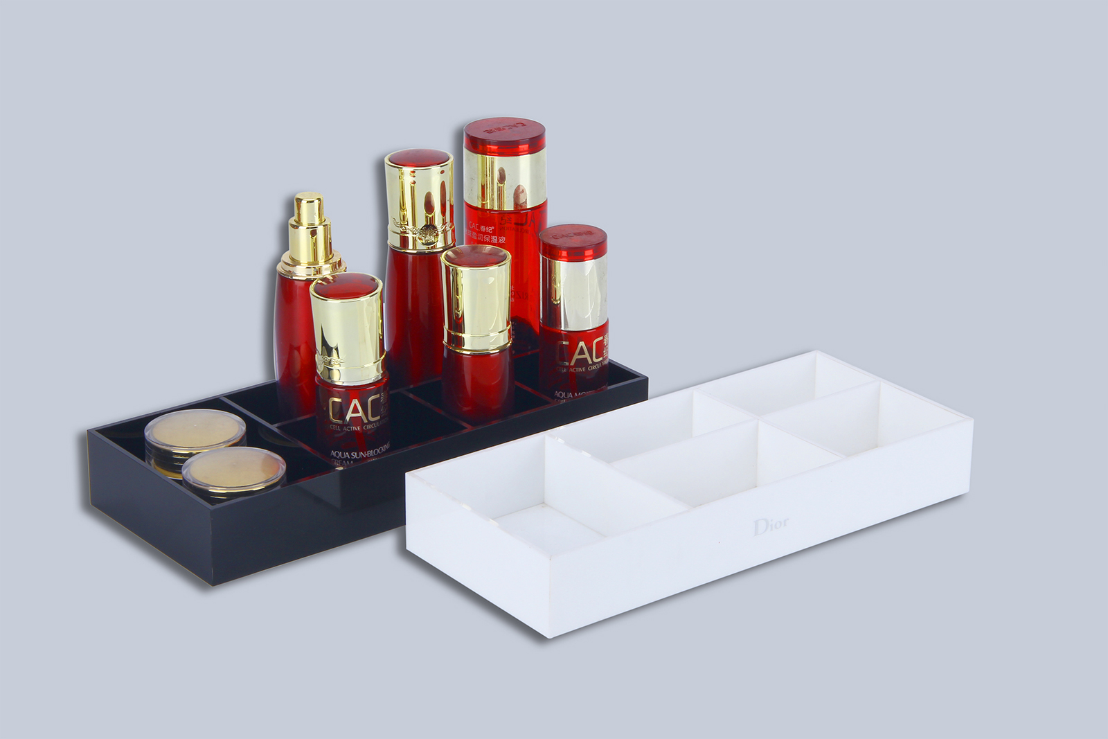 Acrylic skin care products display stand