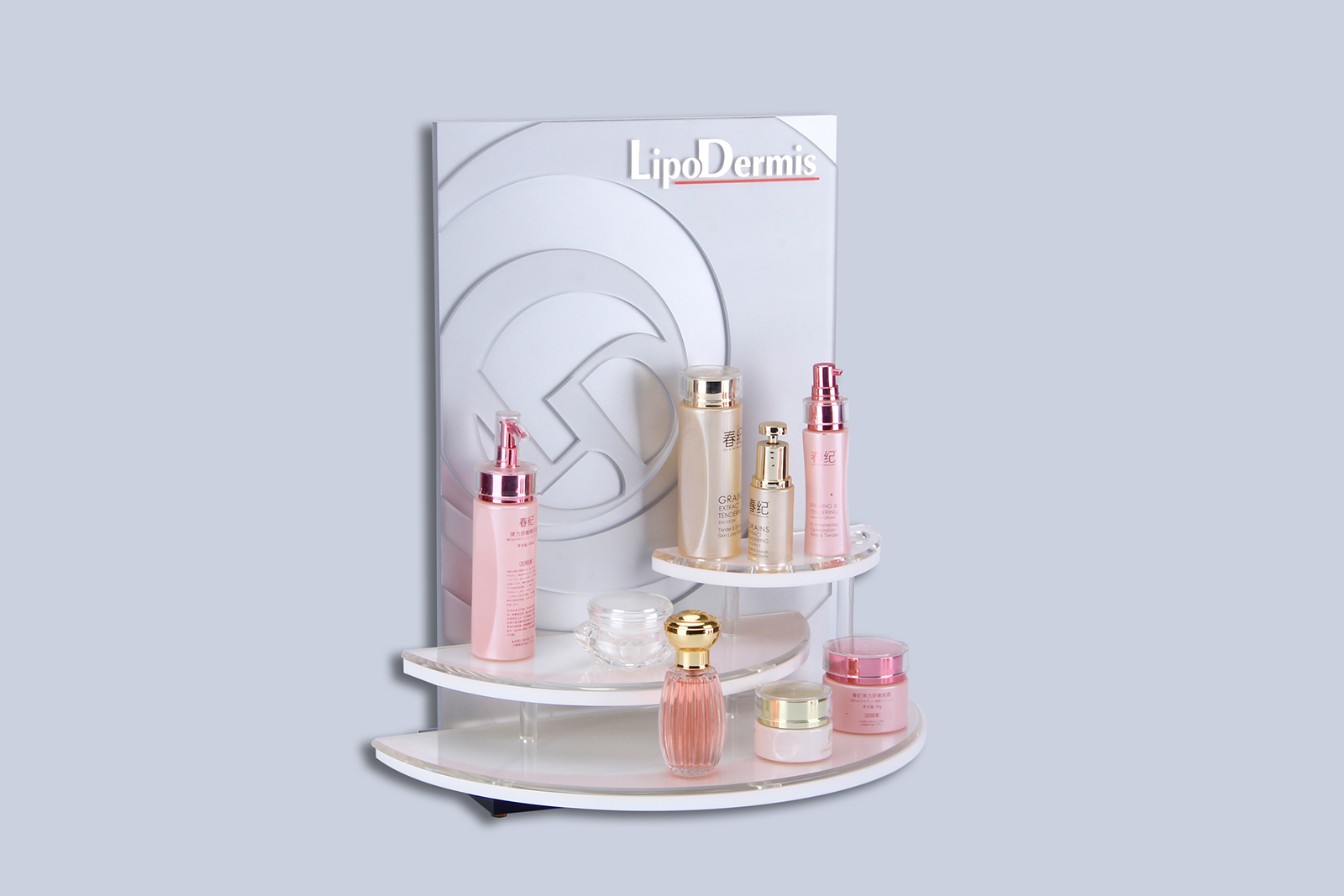 European skin care products display stand